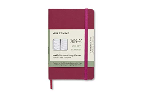 Moleskine 2019-20 Weekly Planner, 18M, Pocket, Snappy Pink, Hard Cover (3.5 x 5.5)