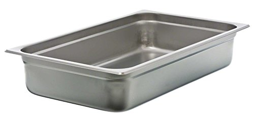 Update International NJP-1004 24-Gauge Stainless Steel Anti-Jam Steam Table Pan, Full, (Stainless Steam Table Pan)