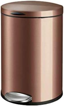ゴミ袋 ゴミ箱用アクセサリ クリエイティブペダルステンレス鋼ゴミ箱ホームリビングルームキッチン寝室バスルームゴミ箱 キッチンゴミ箱 (Color : Brown, サイズ : L-12L)