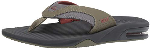 Reef Men's Fanning Sandal, Olive/Rust, 150 M US by Reef (Image #6)