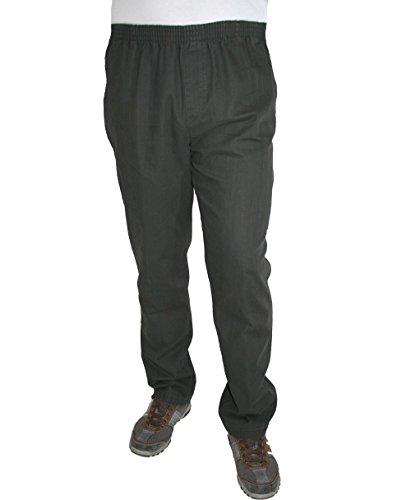 Luigi Morini - Jeans - Jambe droite - Uni - Homme gris anthracite