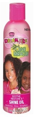 African Pride Dream Kids Olive Miracle Shine Oil 6oz (2 Pack)