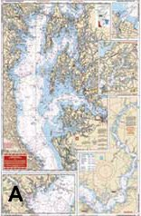 Waterproof Charts, Standard Navigation, 24 Northern Chesapeake Bay