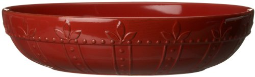 Signature Housewares Sorrento Collection 12-Inch Large Pasta Bowl, Ruby Antiqued Finish