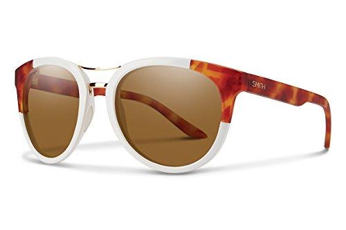 Smith Optics Bridgetown Chromapop Polarized Sunglasses, White Honey Tortoise Block, ()