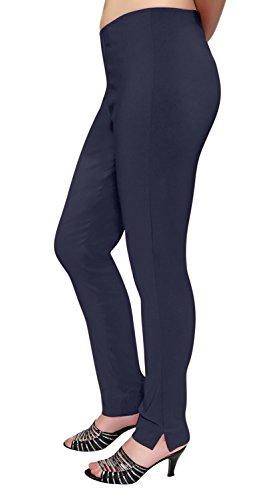 Droit Tirer Pantalon Dames Tout Élastiqué Un Sur Aux Marine Femmes Super Étendue Tailles Lisse wBqZ1