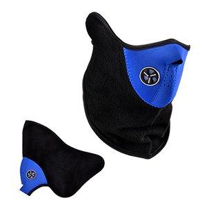 Máscara Cara Media Neopreno Polar Azul Negro Para Moto/Motocicleta /Bici/Esquí