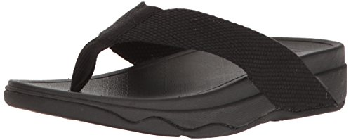 FitFlop Women's Surfa Flip-Flop, Black, 10 M US