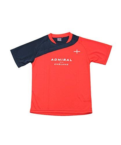 王室クライストチャーチ一時解雇するアドミラル ジュニア サッカーウェア 半袖シャツ 半袖プラクティスシャツ AD540413H02 RD 140