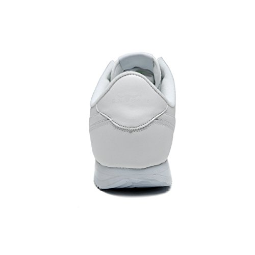Sneakers Casual Traspiranti In Pelle Di Mucca Da Uomo Leggero Da Tennis Atletico A Piedi Scarpe Da Corsa Sportive Outdoor Bianche