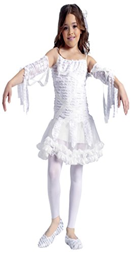 Girls Egyptian Tutu Mummy Kids Child Fancy Dress Party Halloween Costume, M (8-10) (Kids Mummy Costumes)