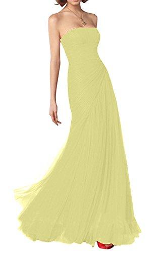 LaMarie Braut Glamour Silber Traegerlos Abendkleider ...