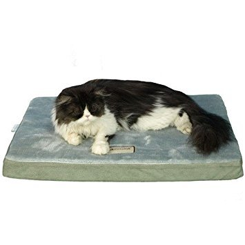 - Armarkat Memory Foam Orthopedic Pet Bed Pad in Sage Green and Gray, 32-Inch by 24-Inch by 3-Inch