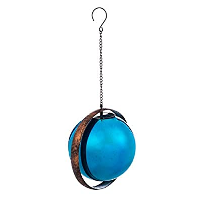 New Creative Evergreen Garden Stargazing Blue Solar Orb Outdoor Décor for Your Lawn and Garden : Garden & Outdoor