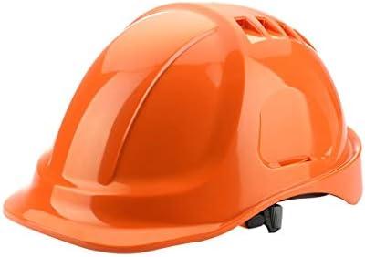 LCSHAN 通気性ヘルメット建設工学電気労働保険ヘルメットホワイト (Color : Orange)