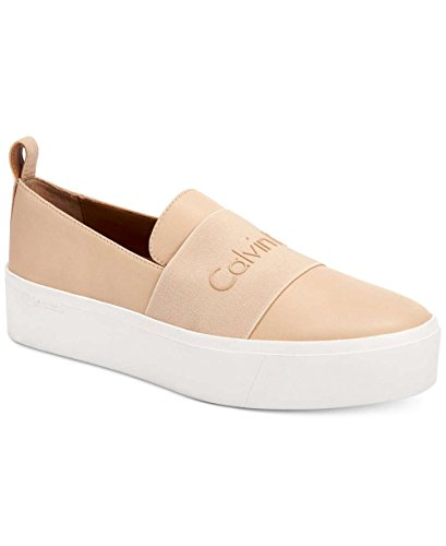 Calvin Klein Womens Jacinta Low Top Slip On Fashion, Sandstorm, Size 6.0