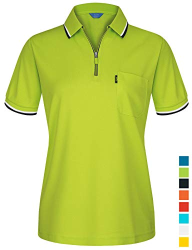 - EZEN Women's Sport Women's Cool DRI Performance Polo Shirts Green Medium
