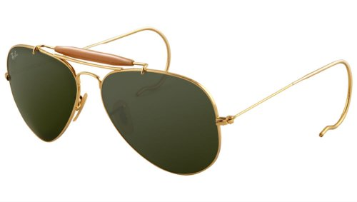 Ray-Ban Outdoorsman 3030 Aviator Sunglasses with Wire Wrap - 5.6 Block