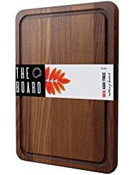 """Cutting Board 14"""" Wood Cutting Board Red Ash Wood Chess Plate More Reliable than Bamboo Cutting Board and More Organic than Plastic Cutting Board Small Cutting Board Serving Tray"""