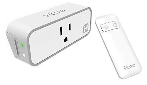 Sdi Technologies Remote Control (iHome iSP8 Wi-FI SmartPlug - use your voice to control connected devices with Amazon Alexa,  Google Assistant  and HomeKit enabled smart speakers, handheld remote included)
