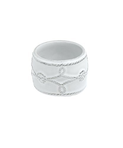 Juliska Ceramics Berry & Thread-Whitewash Napkin Ring, Fine China Dinnerware