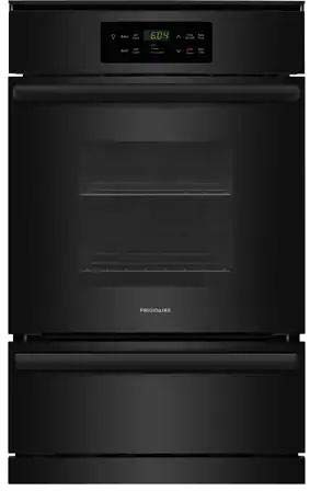 Frigidaire FFGW2426UB 24 Inch 3.3 cu. ft. Total Capacity Gas Single Wall Oven in Black