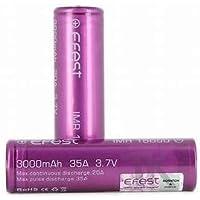 EFEST 3000 mah 35A batteria a testa piatta singola IMR (2 in confezione) - Custodia inclusa per Starter Kit Sigaretta Elettronica