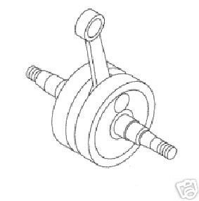 KTM 50 SX JR MINI CRANK CRANKSHAFT ASSEMBLY 2009-2013 452...