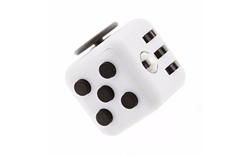 Unbeatable Stress and Anxiety Reliever Fidget Cube (White/Black)