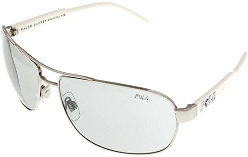 Polo Ralph Lauren Sunglasses Aviator Silver/White Unisex PH3053 - Lauren Ralph Buy Cheap