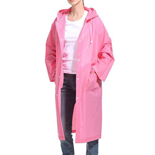 Giovane Poncho Con Saoye Cappuccio Fashion E Outdoorhiking Traspirante Impermeabile Camping Pink Uomo Da Donna qt8tv