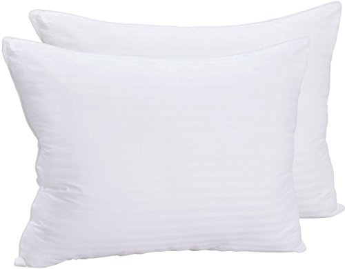 Premium Super Plush Fiber Filled Pillows - (2 Pack, King) - Pure Cotton, T-240 Mercerized Shell, Dust Mite Resistant, 3D Hollow Siliconized Material Retain Shape - by Utopia Bedding