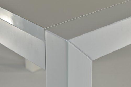 Griline Mesa Modelo Greta Lacado Blanco con Estructura de Madera ...