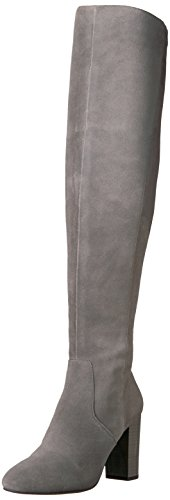 The Fix Women's Lyndsey Over-The-Knee Block-Heel Boot, Elephant Grey, 8.5 M US