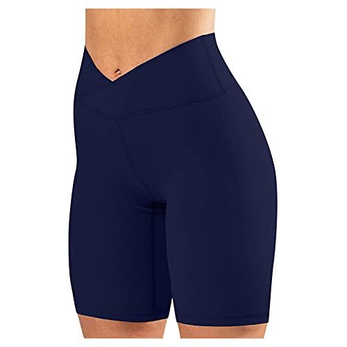 CloudLg Women's High Waisted Biker Shorts Workout Yoga Shorts Running Leggings with/no Pocket Tummy Control Shorts