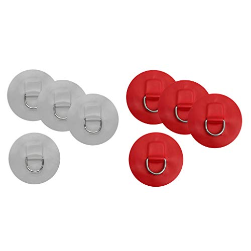 Baosity 8pcs D-ring Pad PVC Patch Shock Cord Kayak Canoes Kit Inflatable Boat by Baosity