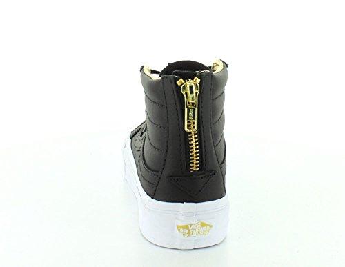 Vans Unisex Sk8-Hi Slim Damen Skateschuh Schwarz / Gold Zip