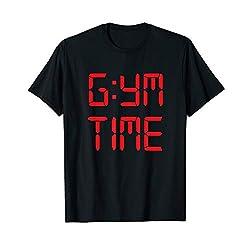 GYM TIME T-shirt LED alarm clock readout tee
