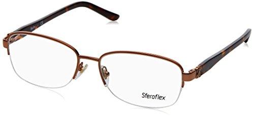 (Sferoflex SF2571 Eyeglass Frames 488-54 - Shiny Copper Frame, Demo Lens)