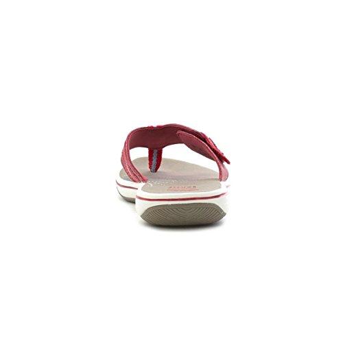 Aardeweer Dames Rood Lederen Comfort Sandaal Rood
