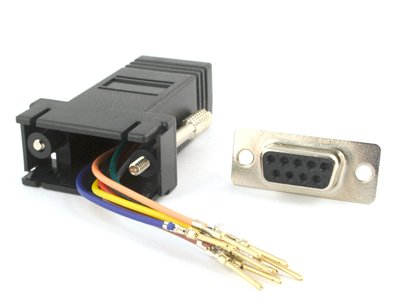 Db9 Rj11 To (Networx Modular Adapter Kit - DB9 Female to RJ11 / RJ12 - Black)