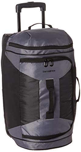 (Samsonite 22 Inch Rolling Duffel, Riverrock/Black, One Size)