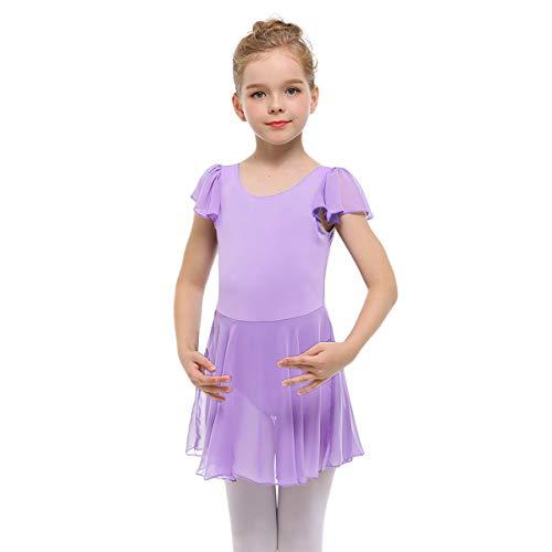 0544dda55 STELLE Girls  Ruffle Short Sleeve Tutu Skirted Ballet Leotard for Dance