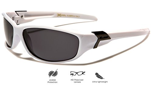 snowboard sol talla correr White Gafas para estuche protección UV400 Loop de Deluxe de como pesca para X depostivas o adultos ciclismo polarizadas hacer incluye única deportes esquí qF0HF5