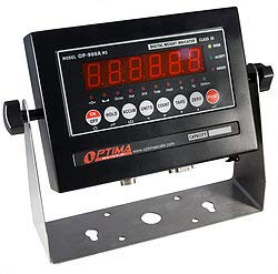 Optima Scales OP-900A-01 NTEP (CC # 09-070A1) Digital Weighing Indicator, IP65, LED, Mild Steel ()