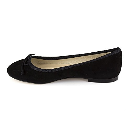 Black Miriam Ballerina Bradford Leather J Black JB Ew68qxH4