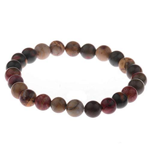 Hebel 8mm Mixed Natural Gemstone Round Beads Stretchy Bracelet Healing Reiki | Model BRCLT - 30070 | ()