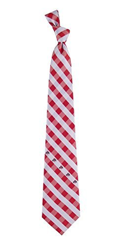 Ohio State Check Poly Necktie by Eagles Wings - Exclusive Necktie