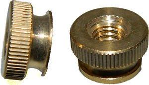 Qty 20 Nut - Solid Brass Knurled Thumb Nuts 1/4-20 Qty 25