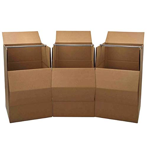 Wardrobe Moving Box, 3-Pack (Coat Moving Box)